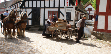 In the Old Town in Aarhus you can experience everyday life in the old days.