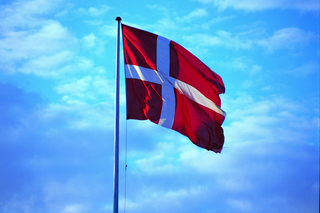 The Danish flag Dannebrog.